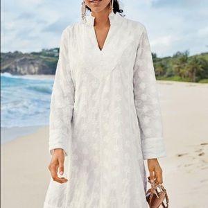 Soft surroundings white eyelet yacht harbor Dress